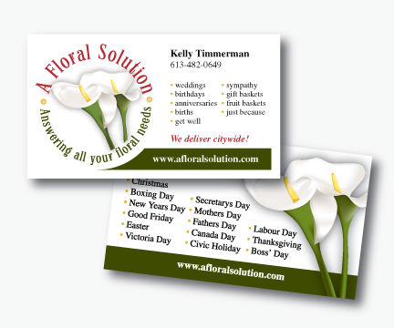 A Floral Solution Business Card