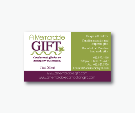 A Memorable Gift Business Card