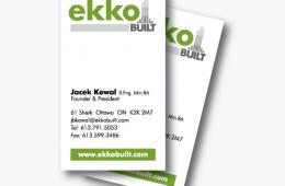 Ekko Built Business Card