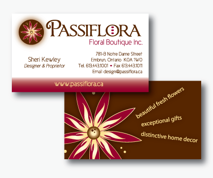 Passiflora Business Card