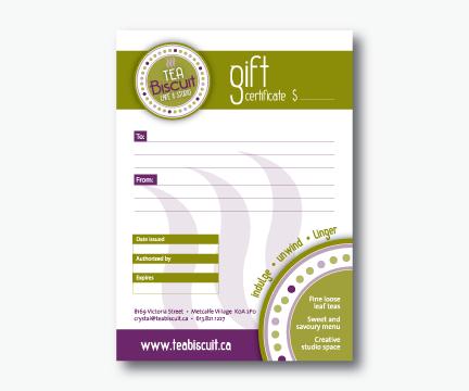 Tea Biscuit Gift Certificate