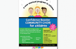 Confidence Booster – Community Choir Poster