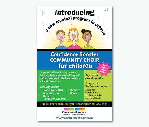 Confidence Booster Choir Poster