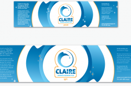 O Claire Water Bottle Labels