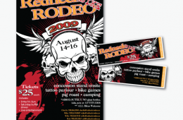 Redneck Rodeo Poster & Ticket Design