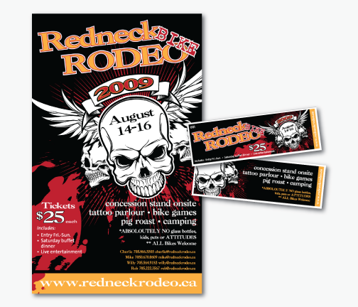 Redneck Rodeo Poster & Ticket